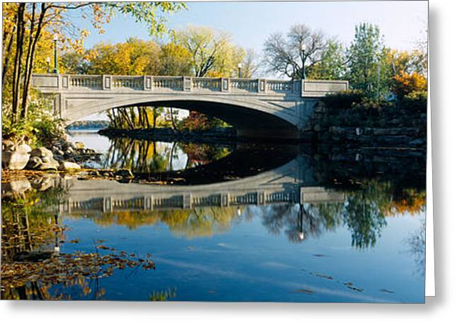 Urban Images Greeting Cards - Bridge Across A River, Yahara River Greeting Card by Panoramic Images