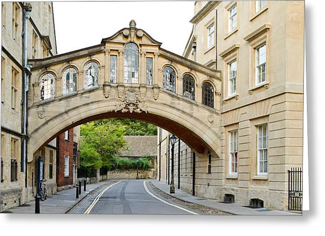 Great Cities Universities Greeting Cards - Bridge Across A Road, Bridge Of Sighs Greeting Card by Panoramic Images