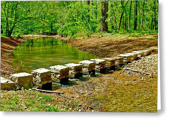 Natchez Trace Parkway Digital Greeting Cards - Bridge across Colbert Creek at Mile 330 of Natchez Trace Parkway-Alabama Greeting Card by Ruth Hager