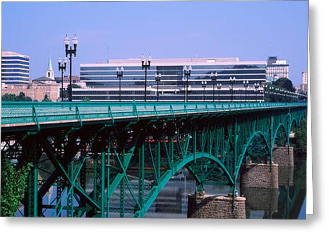 Tennessee River Greeting Cards - Bridge Across River, Gay Street Bridge Greeting Card by Panoramic Images