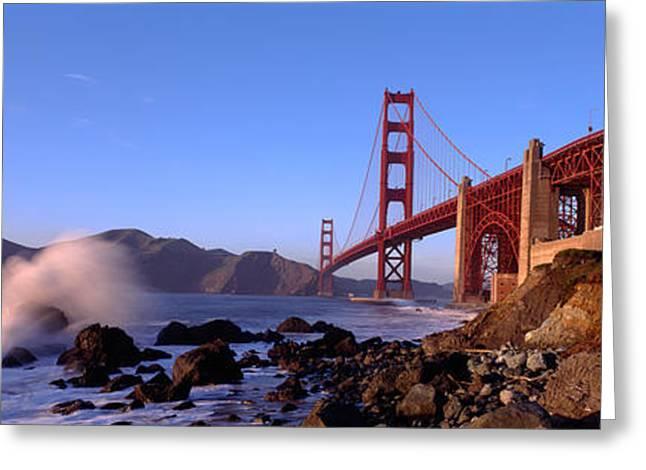 San Francisco Bay Greeting Cards - Bridge Across The Bay, San Francisco Greeting Card by Panoramic Images