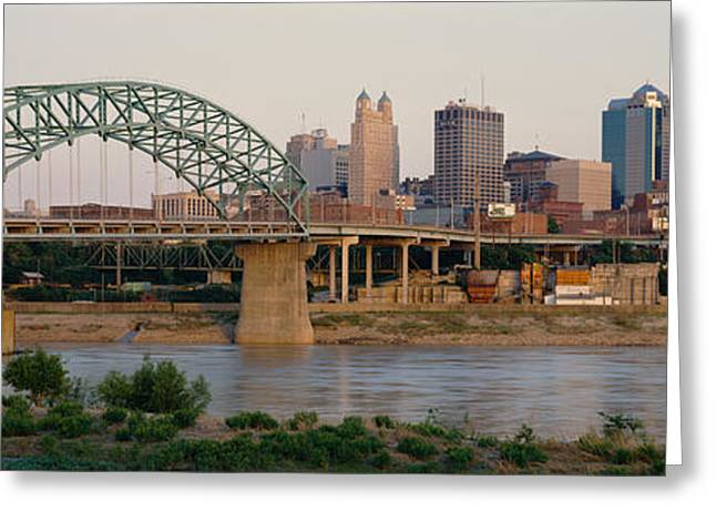 Kansas City Missouri Greeting Cards - Bridge Across The River, Kansas City Greeting Card by Panoramic Images