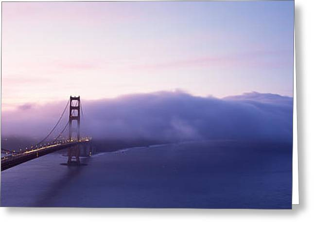 Famous Bridge Greeting Cards - Bridge Across The Sea, Golden Gate Greeting Card by Panoramic Images