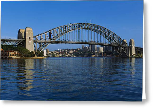 Famous Bridge Greeting Cards - Bridge Across The Sea, Sydney Harbor Greeting Card by Panoramic Images