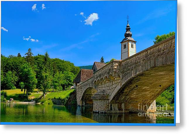 Bohinj Lake Greeting Cards - Bridge at Bohinj Greeting Card by Norman Gabitzsch