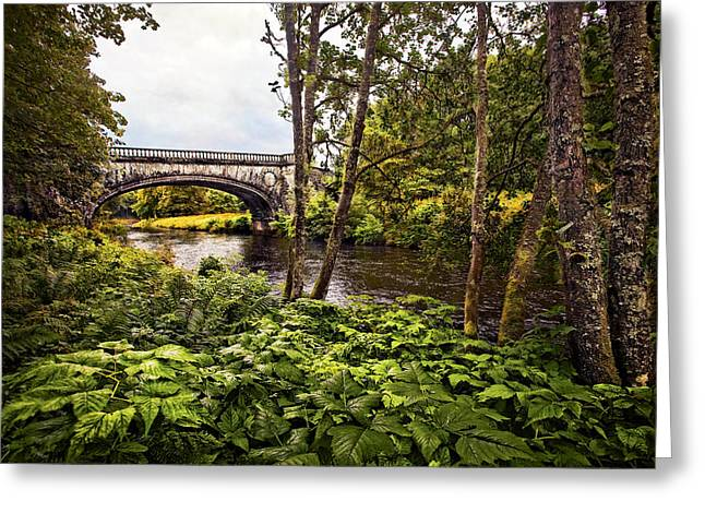 Campbell Clan Greeting Cards - Bridge At Iveraray Castle Greeting Card by Marcia Colelli