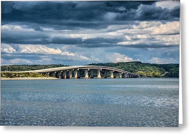 Bridge At Paris Landing Greeting Card by Jai Johnson