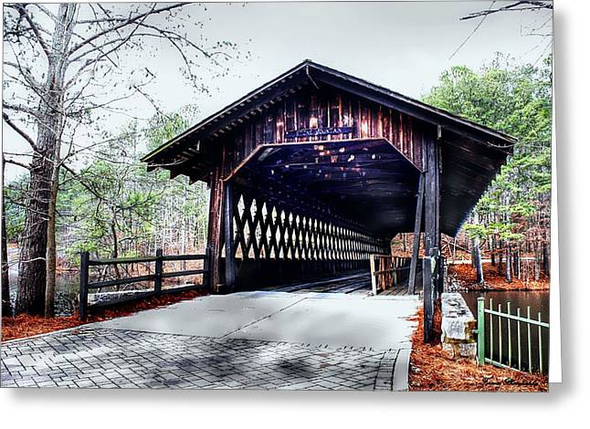 Old Tress Greeting Cards - Bridge At Stone Mountain Greeting Card by Debra Forand
