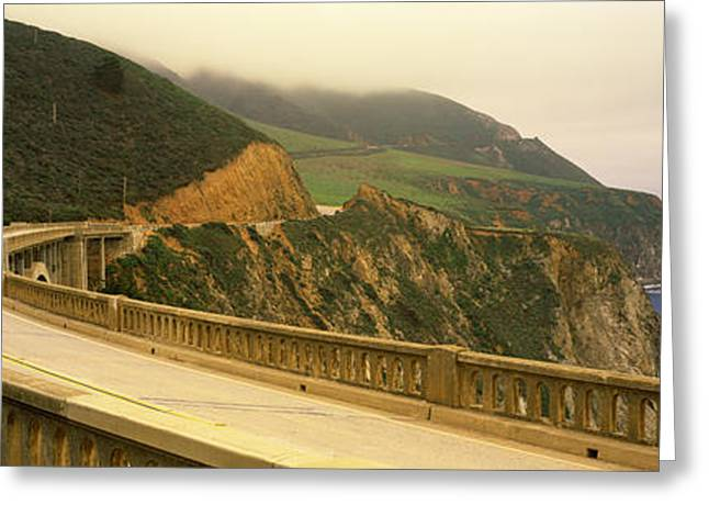 Big Sur California Greeting Cards - Bridge At The Coast, Bixby Bridge, Big Greeting Card by Panoramic Images