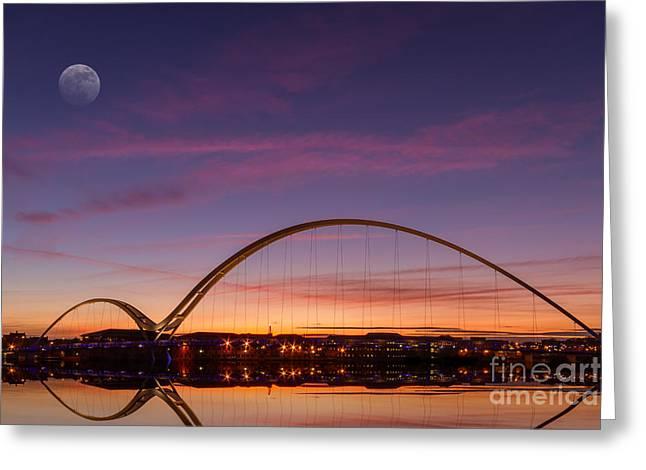 Stockton Greeting Cards - Infinity Bridge Greeting Card by Bahadir Yeniceri