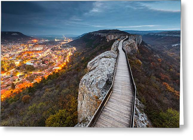 Ovech Fortress Greeting Cards - Bridge Between Epochs Greeting Card by Evgeni Dinev