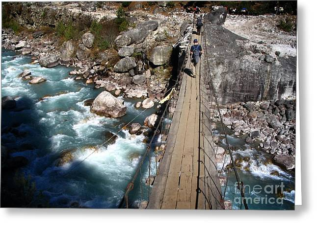 Recently Sold -  - Base Path Greeting Cards - Bridge Crossing Greeting Card by Tim Hester