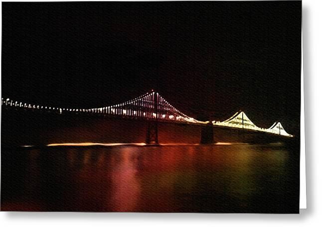 Bay Bridge Mixed Media Greeting Cards - Bridge Greeting Card by Dennis Buckman