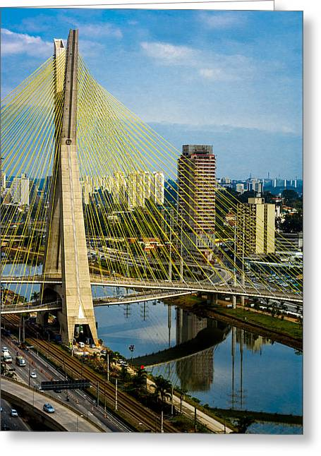 A Hot Summer Day Greeting Cards - Bridge in Sao Paulo Greeting Card by Daniel Precht