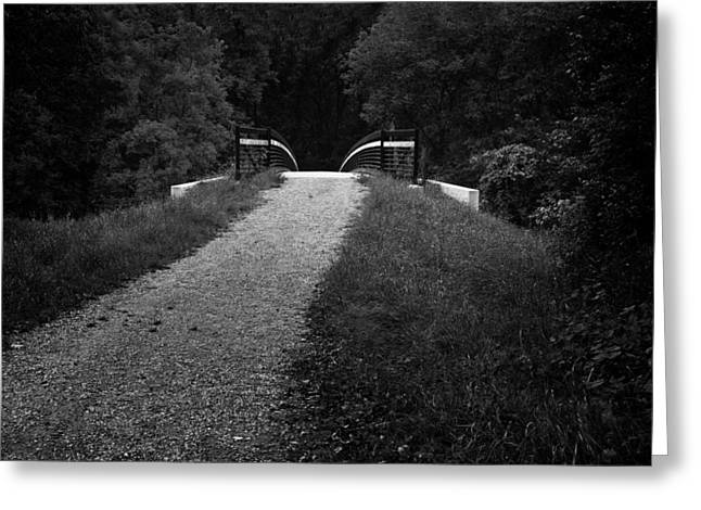 Deep Fears Greeting Cards - Bridge into Darkness Greeting Card by Donald  Erickson