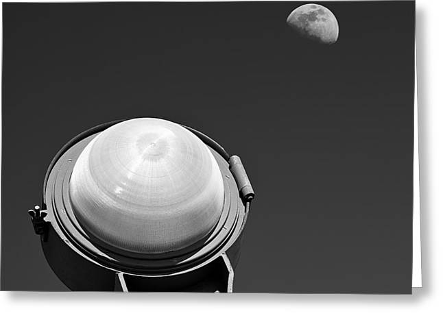 Lunar Greeting Cards - Bridge Light Greeting Card by Dave Bowman