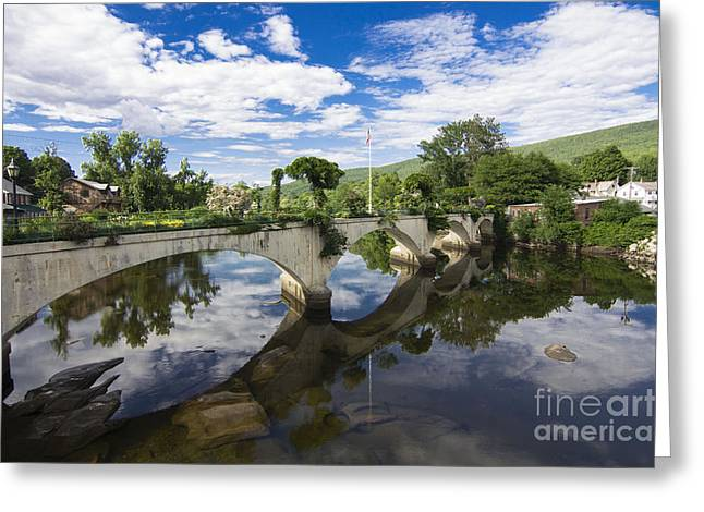 Bridge Of Flowers Greeting Cards - Bridge of Flowers Greeting Card by Eight Cattails Imagery