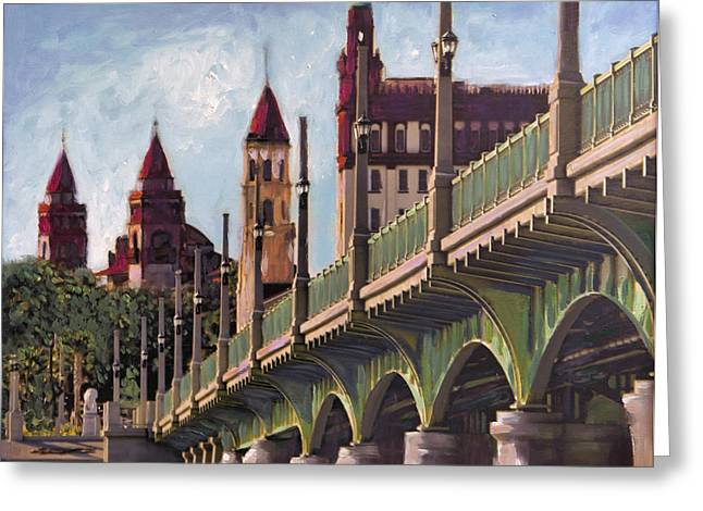 Florida Bridge Greeting Cards - Bridge of Lions St. Augustine Greeting Card by Francoise Lynch