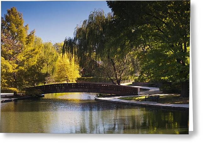 Loose Greeting Cards - Bridge of Loose Park Greeting Card by Chad Davis