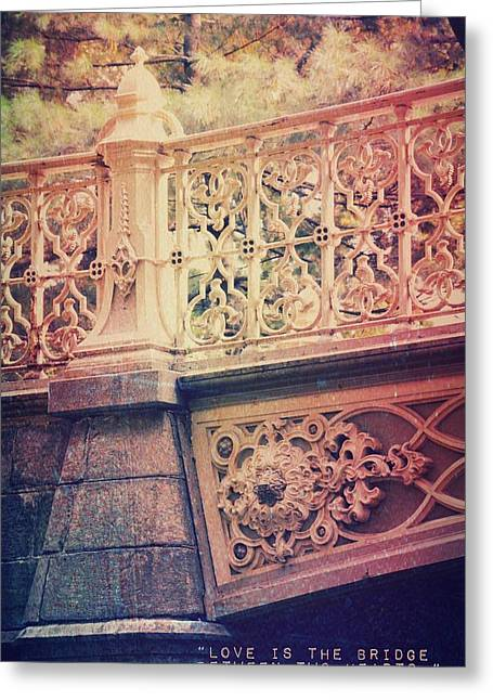 New Thoughts Greeting Cards - Bridge of Love Greeting Card by Marianna Mills