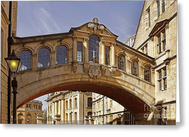 Covered Bridge Greeting Cards - Bridge Of Sighs, Oxford Greeting Card by Tony Craddock