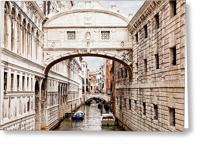 Bridge Of Sighs Greeting Card by Susan Schmitz