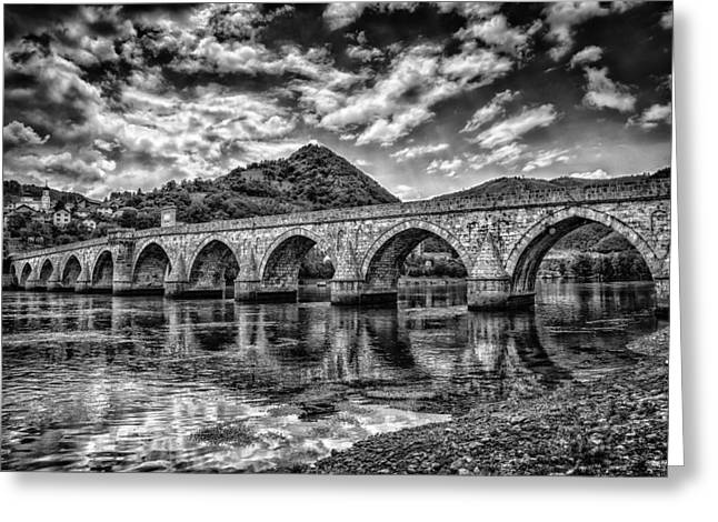 Social Organizations Greeting Cards - Bridge on Drina Greeting Card by Dobromir Dobrinov