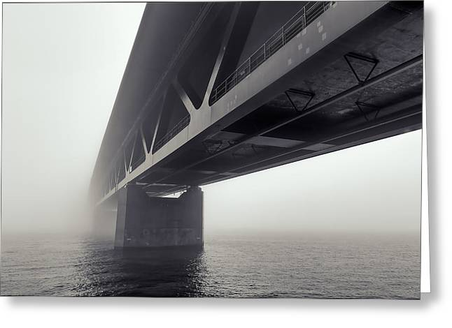 Mood Greeting Cards - Bridge Out of the Mist Greeting Card by EXparte SE
