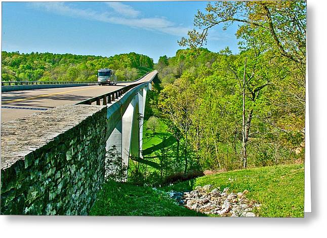 Natchez Trace Parkway Digital Greeting Cards - Bridge over Birdsong Hollow at Mile 438 of Natchez Trace Parkway-Tennessee Greeting Card by Ruth Hager