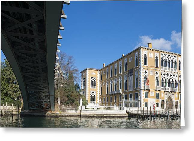 Gran Canal Greeting Cards - Bridge over Gran canal Greeting Card by Mats Silvan