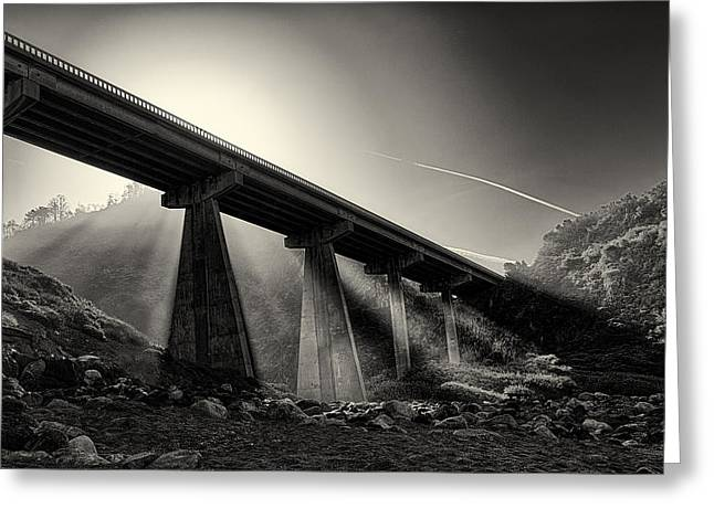 Recently Sold -  - Big Sur California Greeting Cards - Bridge Over Limekiln Creek Greeting Card by Richard Eisen
