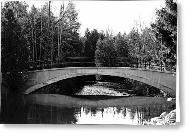 Cedar Key Greeting Cards - Bridge Over River Greeting Card by Debbie Oppermann