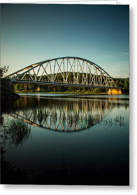 Kjg Greeting Cards - Bridge over still water Greeting Card by Mirra Photography