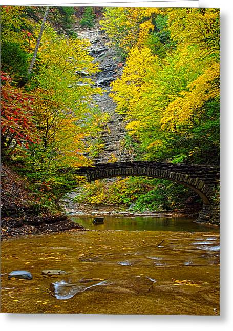 Rill Greeting Cards - Bridge Over Still Waters Greeting Card by Joshua House