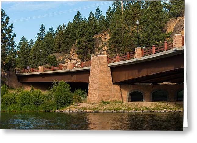 Deschutes River Greeting Cards - Bridge over the Deschutes  Bend Oregon Greeting Card by Martina Thompson