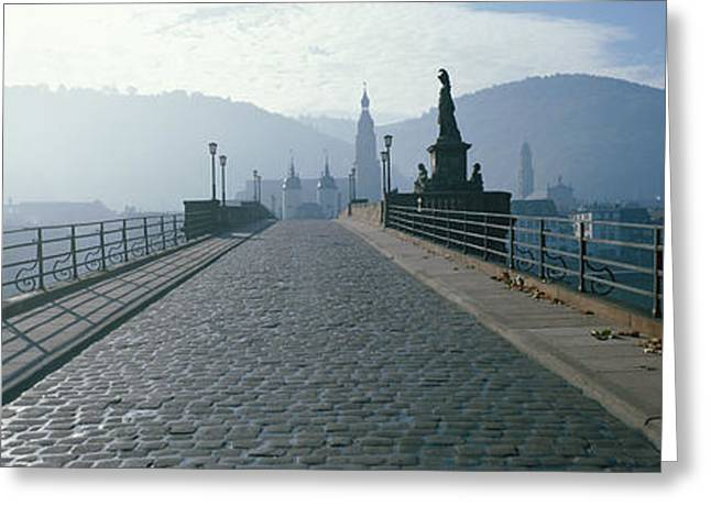 Haze Greeting Cards - Bridge Over The Neckar River Greeting Card by Panoramic Images