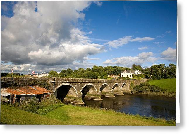 Shed Photographs Greeting Cards - Bridge Over The River Ilen Greeting Card by Panoramic Images