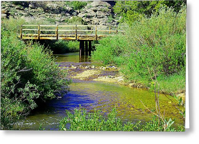 Sweetwater Greeting Cards - Bridge over the Sweetwater Greeting Card by Sherri Krause