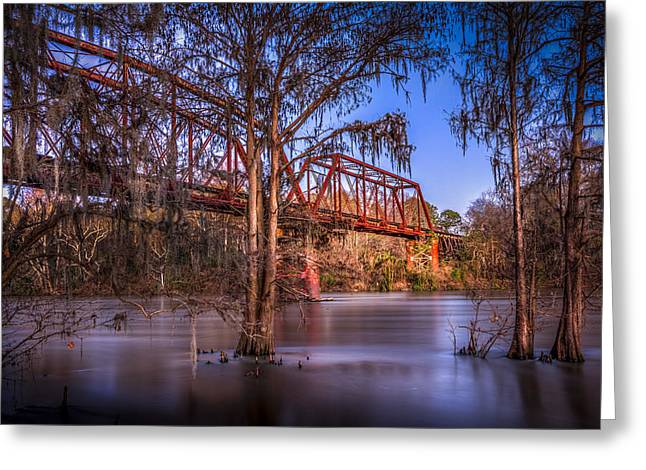 Flint Greeting Cards - Bridge Over Trouble Water Greeting Card by Marvin Spates