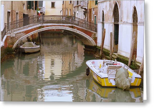 Venice Greeting Cards - Bridge over Untroubled Waters Greeting Card by Bishopston Fine Art