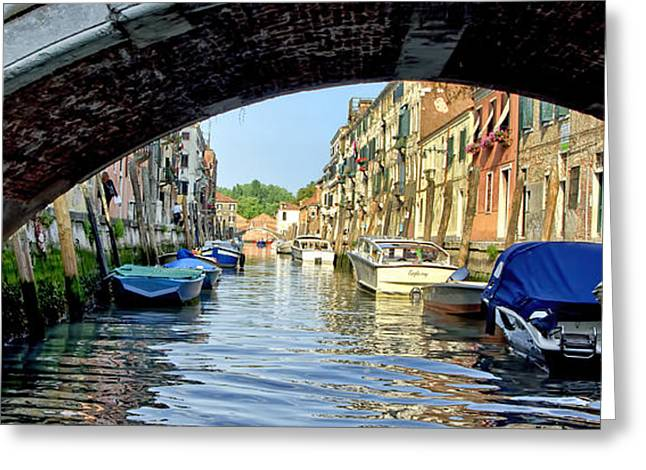 The Piazza Greeting Cards - Bridge Over Venice Canal Greeting Card by Jon Berghoff