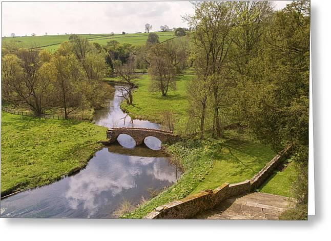 Niel Morley Greeting Cards - Bridge over Water Greeting Card by Niel Morley