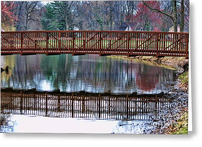 Quite Photographs Greeting Cards - Bridge over Water Greeting Card by Paul Ward