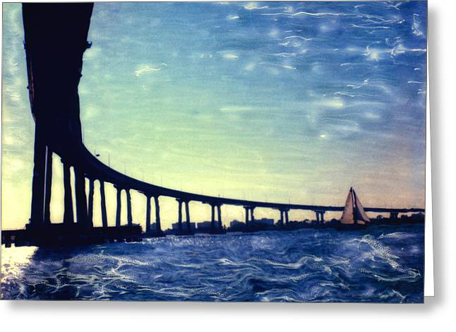 Bay Bridge Mixed Media Greeting Cards - Bridge Shadow Greeting Card by Glenn McNary