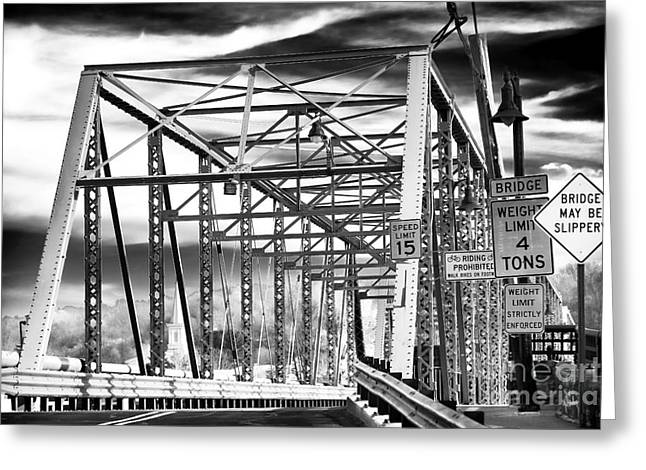 Truss Bridge Greeting Cards - Bridge Street Greeting Card by John Rizzuto