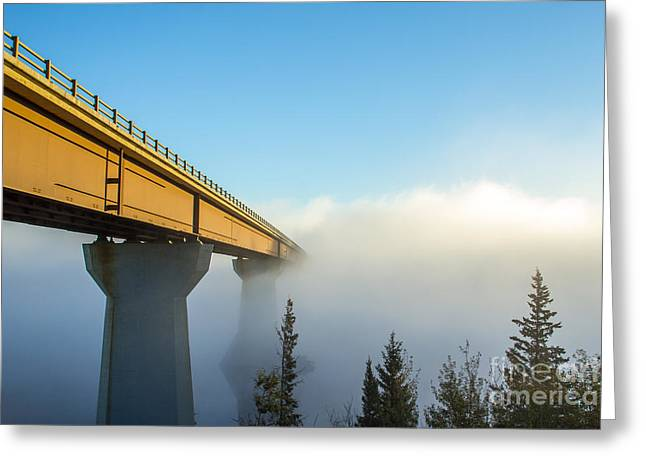 Merging Greeting Cards - Bridge to a dream in color Greeting Card by Alanna DPhoto