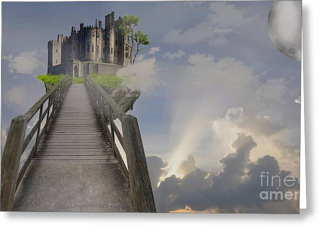 Make Believe Greeting Cards - Bridge to Another World Greeting Card by Cheryl Young