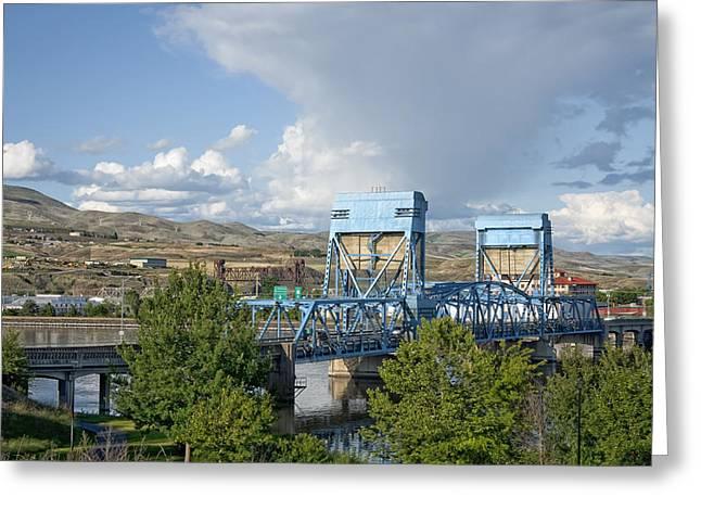 Lewiston Greeting Cards - Bridge to Lewiston Greeting Card by Mountain Dreams