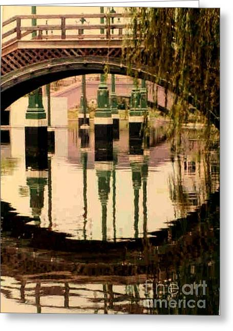 New Orleans Louisiana Framed Prints Greeting Cards - Bridge To Louis Armstrong Park In New Orleans Louisiana Greeting Card by Michael Hoard