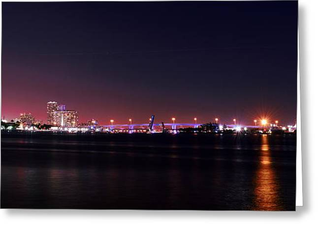 Brickell Greeting Cards - Bridge to Miami Beach Greeting Card by Sukumar Shanmughanathan